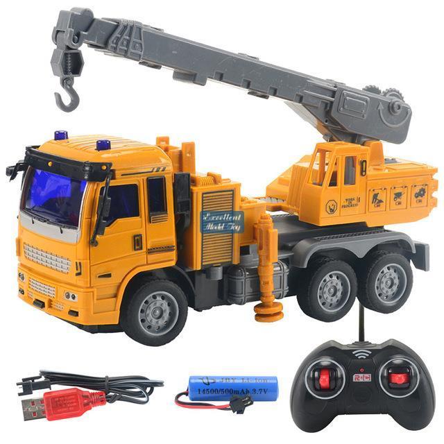 EMT EG1 2.4G Fernbedienung Bagger, Bulldozer, 1:32 Kran Beton-Truck, 5-Kanal-Elektrotechnik-Fahrzeug, Kinderspielzeug-Boy-Geschenk, 2-2