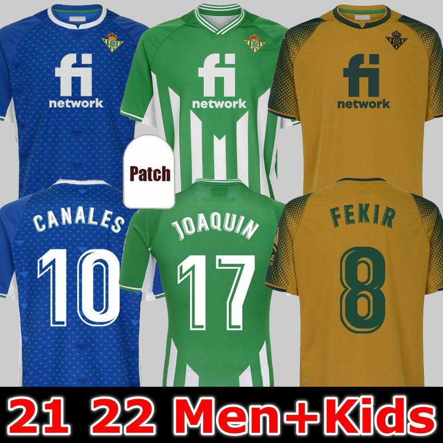 21 22 echte Betize Fußball-Trikots Joaquin B.iglesias Camiseta de Fútbol Loren Juanmi Bartra Tele A.Guardado Zuhause Auswärts Canales Fekir 2021 2022 Fußballshirts