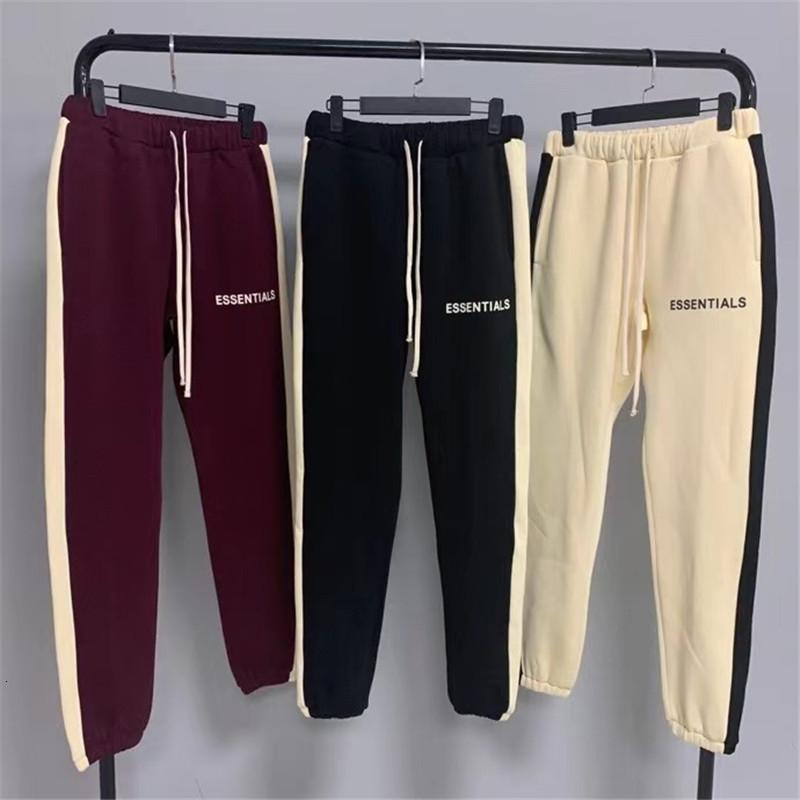 Fog Straights of Men's Women 1:1 Best Quality Red Black Apricot Essentials Pants Joggers Sweatpants S3rb
