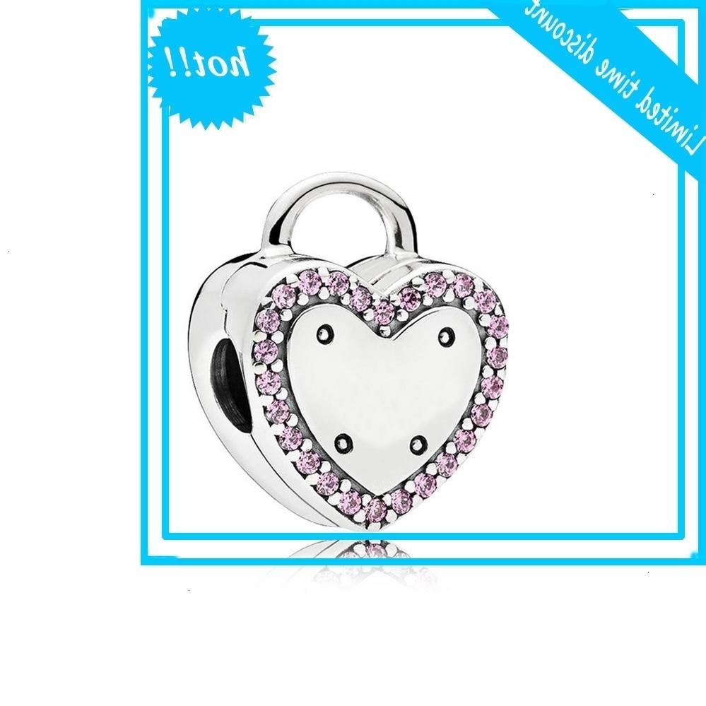 Auténtico 925 plata esterlina kraal cerradura su promesa clip encanto ajuste moda mujeres pan pulsera veneno bricolaje joyas
