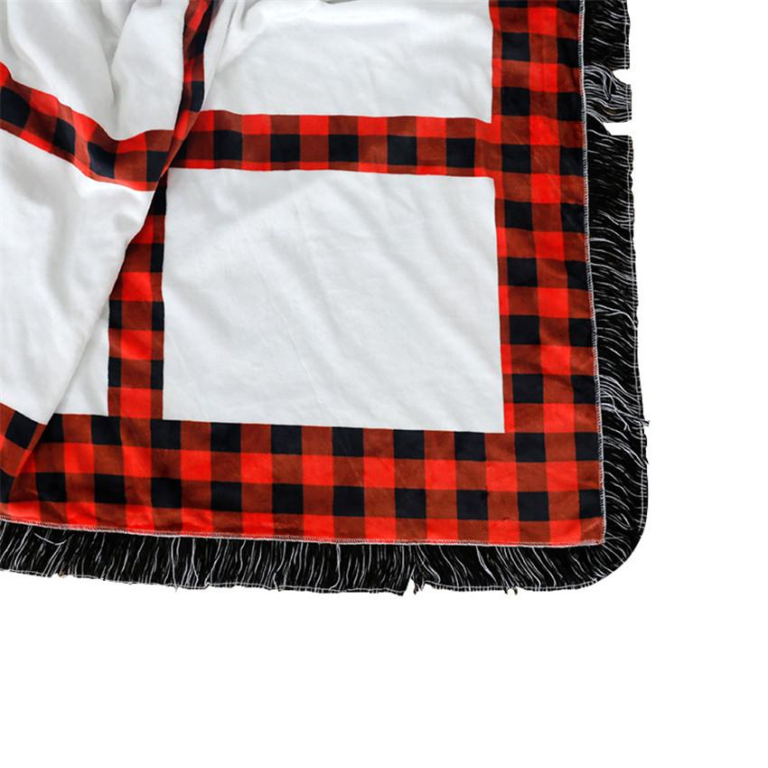 Cheapest! Sublimation panels blanket Red Plaid Sublimation Blankets 20 panels Rug Thermal Transfer Blankets Free Shipping GWF5539