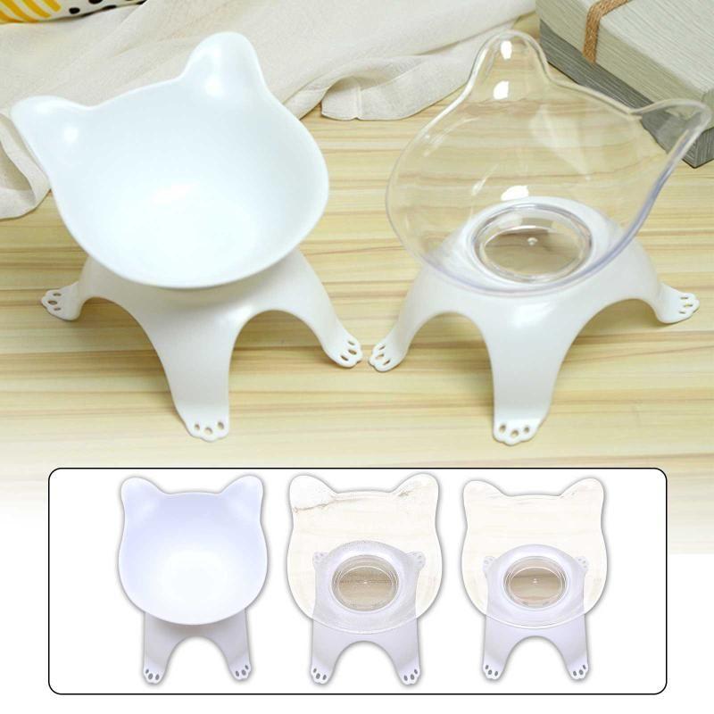 Cat Bowls Feiters нескользные двойные домашние животные с поднятой подставкой и водой для кошек для собак Собаки Чаша # 4