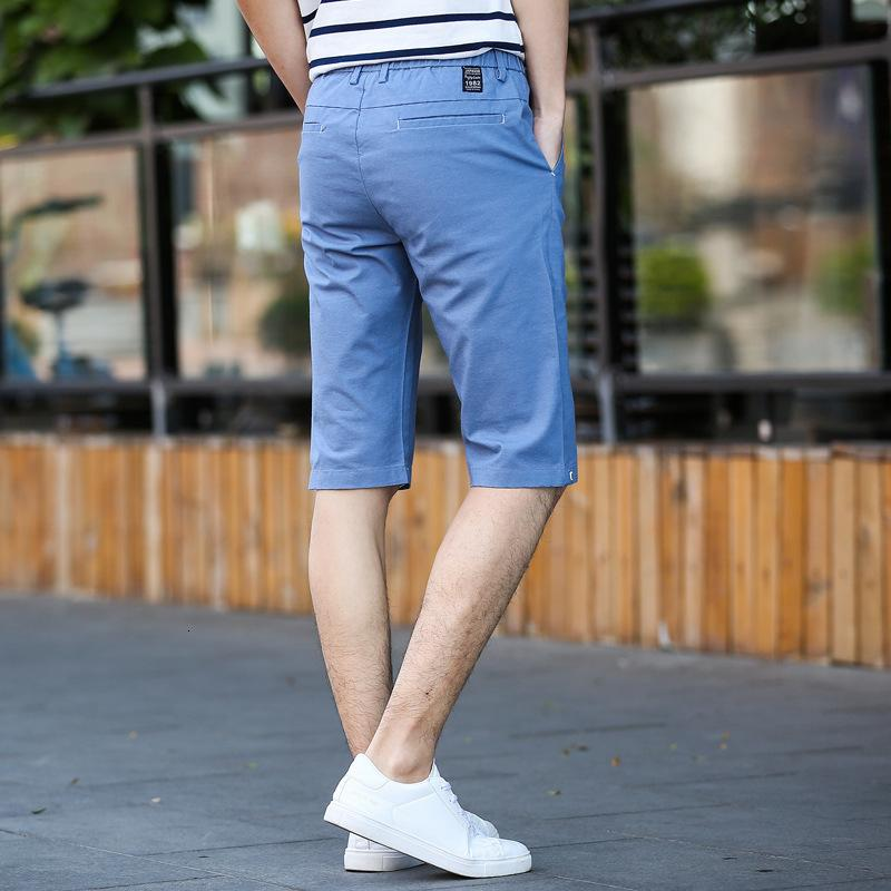 Pantaloncini Capris Coreano Slim Trend Youth Youth Cool Estate New Solid Colour Casual Casual