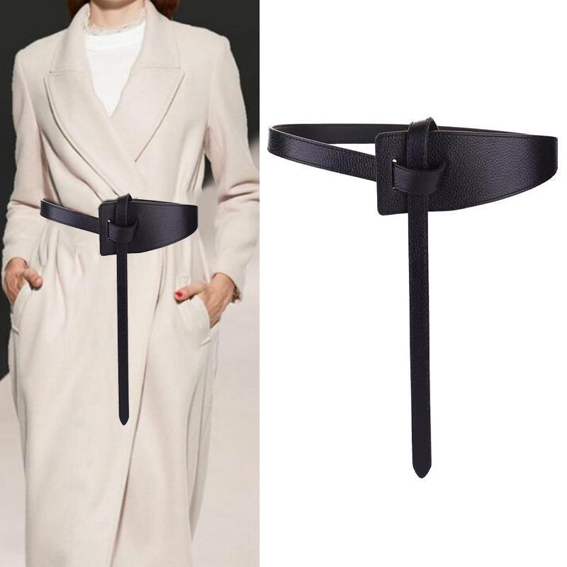 벨트 Longe 125cm 와이드 가죽 코르셋 벨트 여성 넥타이 활 여가 숙녀 웨딩 드레스 허리띠 여성용