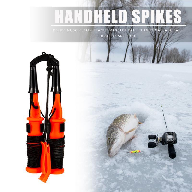الفولاذ المقاوم للصدأ في الهواء الطلق سلامة الصيد الجليد اختيار يده المسامير الحياة preserver مع الحبل الصيد معالجة أدوات لوازم