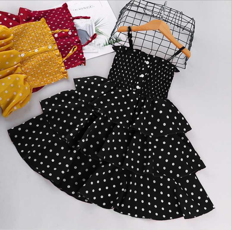 2021 Yeni Bebek Çocuk Kız Çocuk A-Line Elbise Kolsuz Çiçek Baskılı Bir Çeşitli Stilleri Rastgele Teslimat Ücretsiz Kargo