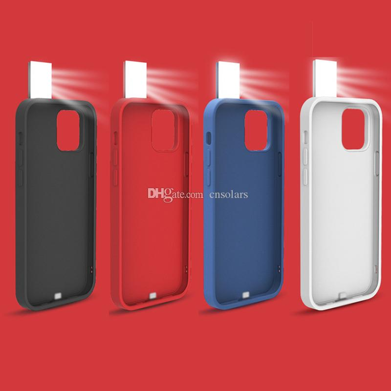 2021 Funda de teléfono móvil portátil de la luz del selfie caliente para iPhone 12 Pro Flash LED Selfie Anillo de llenado de llenado Cubierta trasera para iPhone 12 Pro Nuevo caso