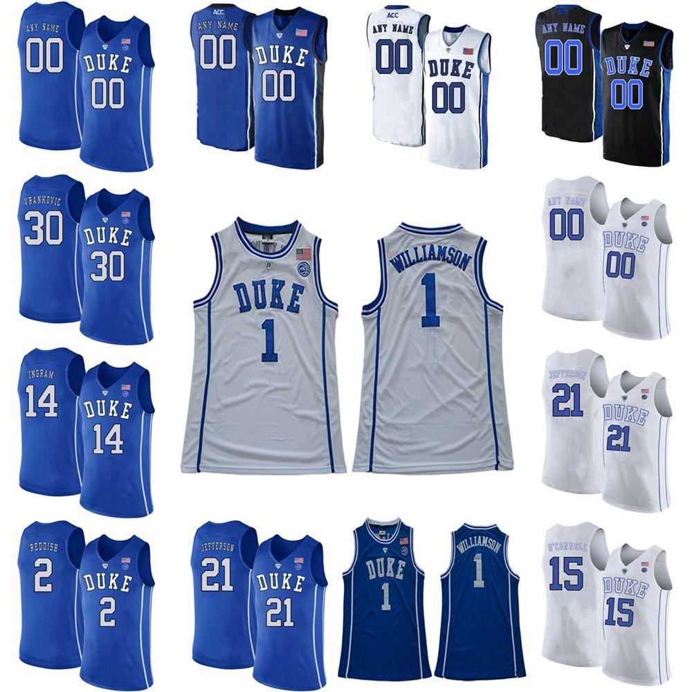 Герцоги Голубых дьяволов Колледж Баскетбол Джерси Остин 0 реки Джерси Джастин 50 Робинсон Кассиус Стэнли Джек Белый Фрэнк 15 Джексон Индивидуальный