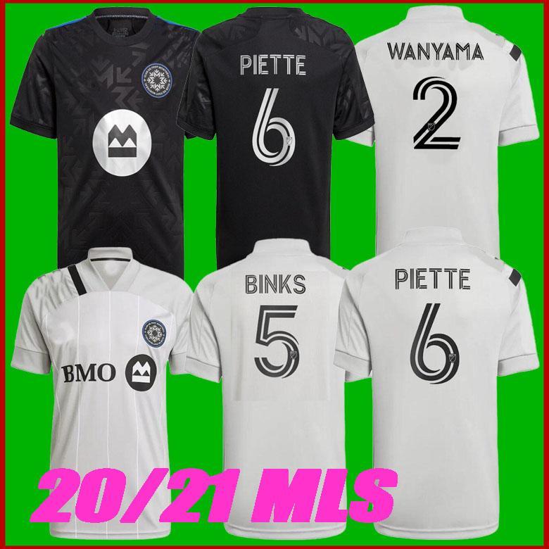 Boyut S-2XL 2021 Club De Ayak Montréal Home CF Montreal Futbol Formaları Etki 21 22 Uzakta Wanyama Mihailovic Piette Quioto Mls Futbol Gömlek