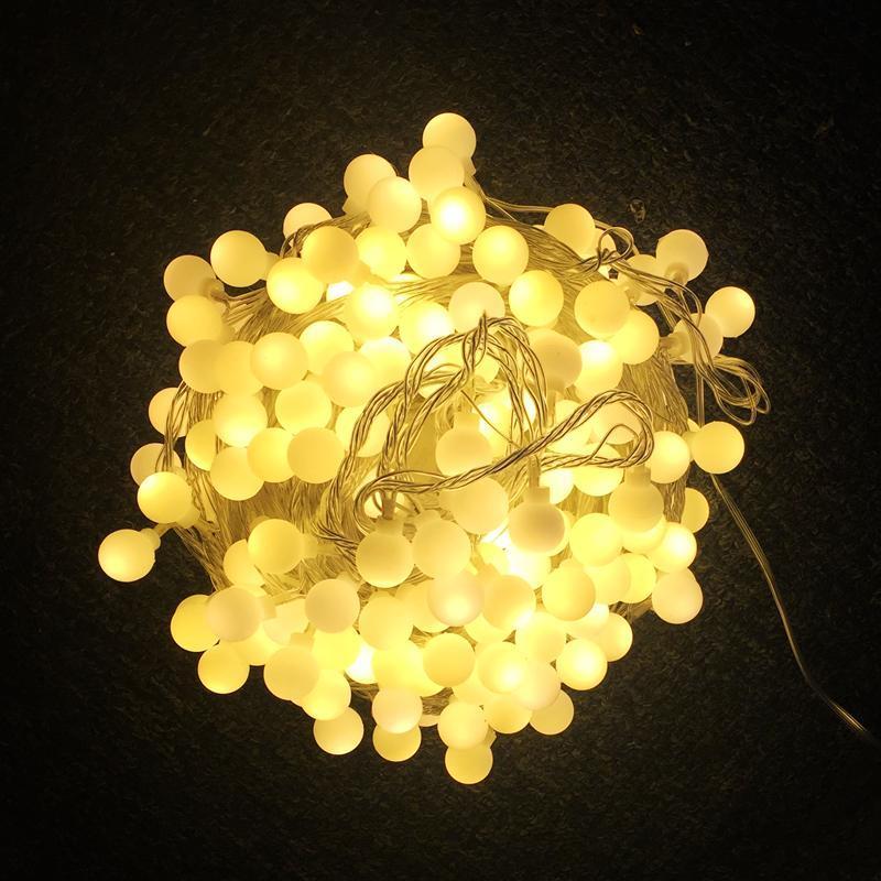 سلاسل 110 فولت / 220 فولت ماتي كرات أدى سلسلة أضواء 10 متر 20 متر 30 متر 50ma الجنية عيد الميلاد جارلاند لقضاء عطلة حزب الزفاف المنزل في الهواء الطلق ديكور