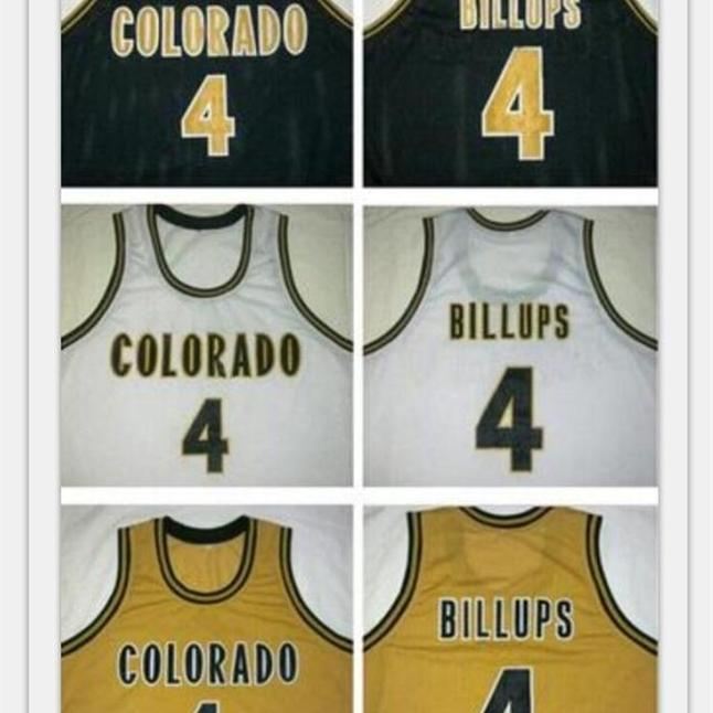 Goodjob Men Youth women Vintage #4 Chauncey Billups Colorado Buffaloes Basketball Jersey Size S-6XL or custom any name or number jersey