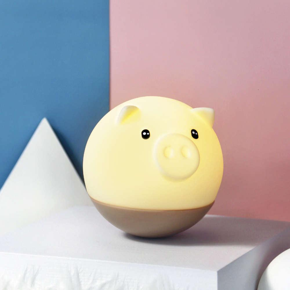 Творческий тумблер, изготовление беда свинья ночь светодиодный силиконовый красочный мультфильм USB зарядки детей хлопают свет