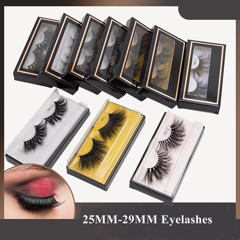 25mm 29mm 3D mink cils moelleux long super bouclé 8d mink cils 5d mink cils poils faux cils maquillage