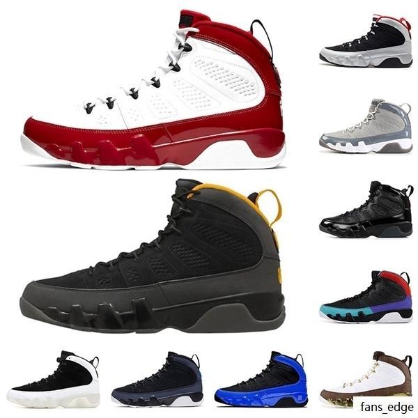 Jumpman 9 Spor Salonu Kırmızı 9 Üniversitesi Altın Erkekler Basketbol Ayakkabıları 9 S Erkek Eğitmenler Yanardöner Racer Mavi Uzay Reçeli Atletik Spor Sneakers Boyutu 13