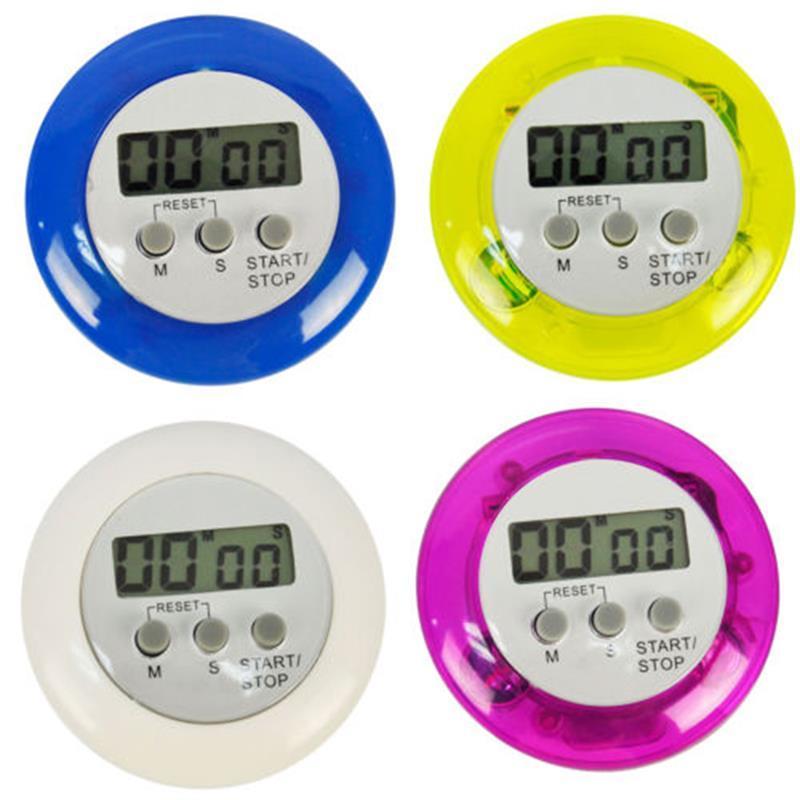 Timètre de cuisson DIGITAL Alarm Digital Cuisine Timers Gadgets Mini Ronde Cute LCD Affichage Down Outils Batterie installée avec clip