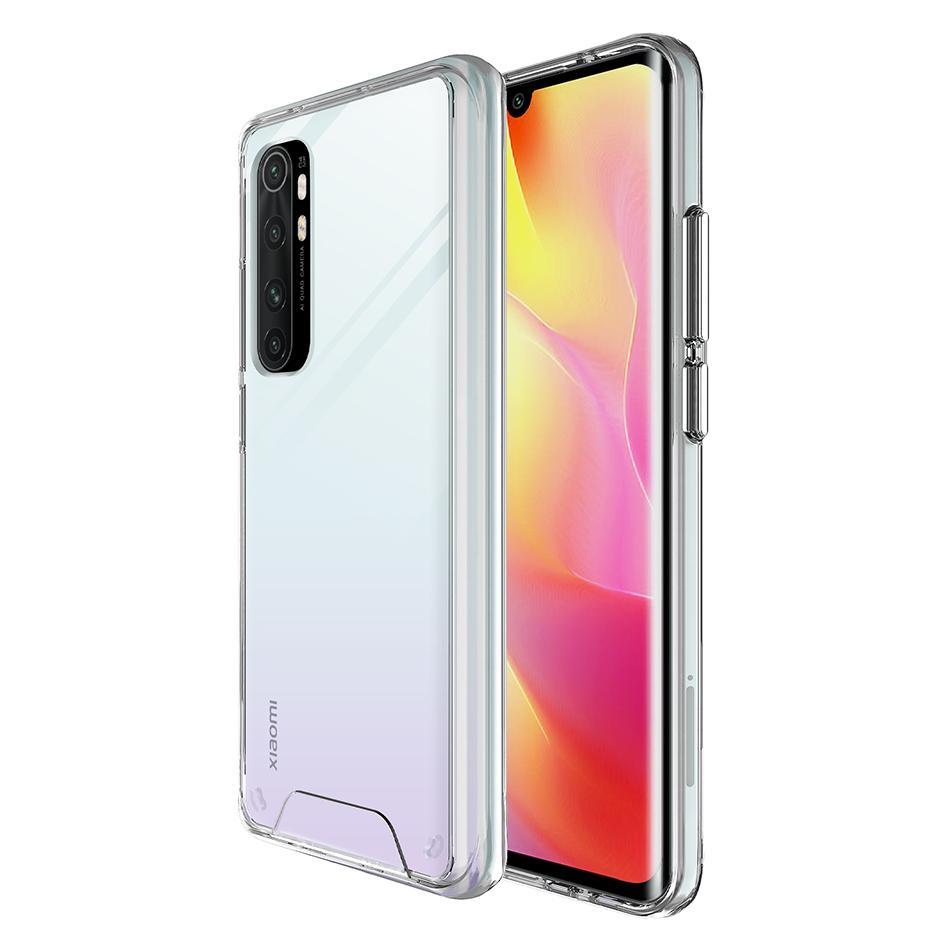 공간 투명한 shcokrpoof 맑은 아크릴 Hrad 전화 케이스 Xiaomi Mi Redmi 노트 10 9 Lite 9C 9A 9S Pro 최대 울트라 슬림 실버 Botton 핸드폰 커버