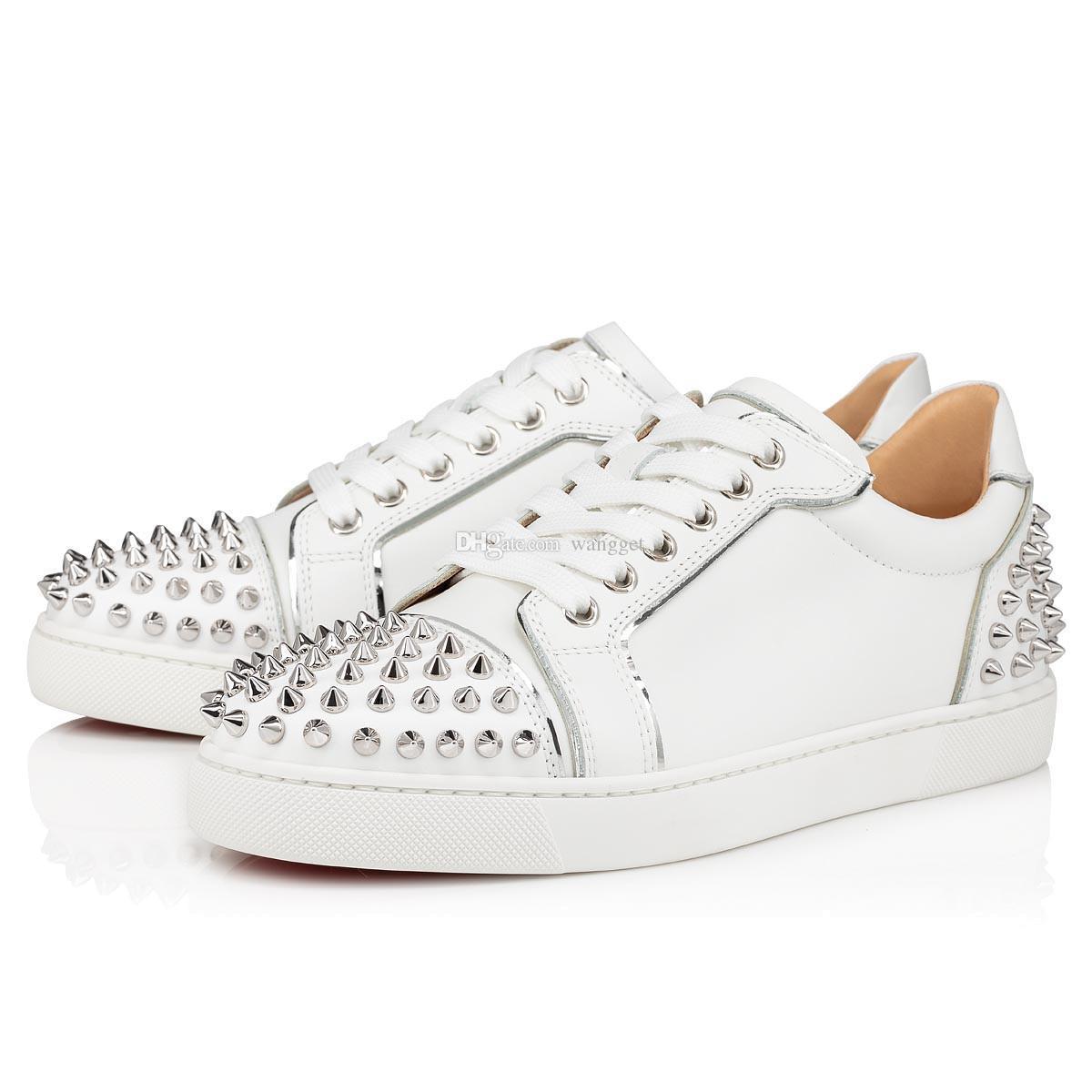 Moda Nova Rantulow Orlato Vermelho Bottom Sneakers Low Top Sports Outdoor Popular Designer Men Sapatos Casuais Vermelho Sole Trainers EU35-47
