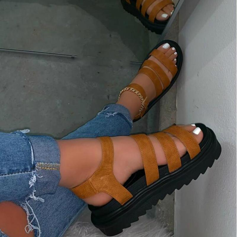 Sandal Sandals Sandales Gladiator Plate-forme Talons Rome Peeep Toe Boucle Décontracté Loisirs Beach Vacances Dames Chaussures Zapatos de Mujer