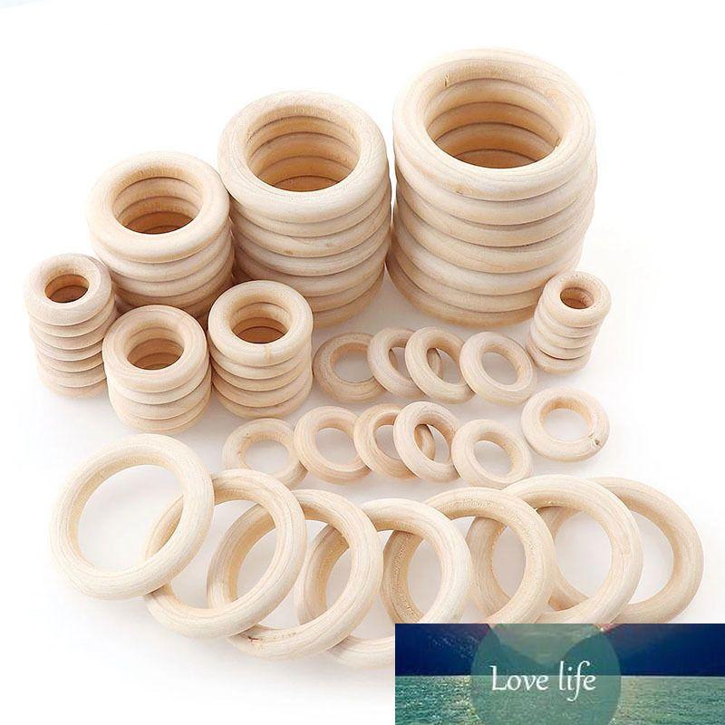 10шт натуральный древесный круг DIY ремесел для ювелирных изделий для ребенка для прорезывания зубов деревянные кольца детские игрушечные украшения аксессуары