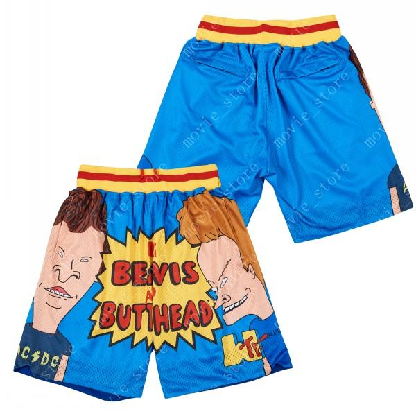 Men's Beavis And Butt-Head Music Television Show 90S Basketball Shorts Sports Pants Stitched