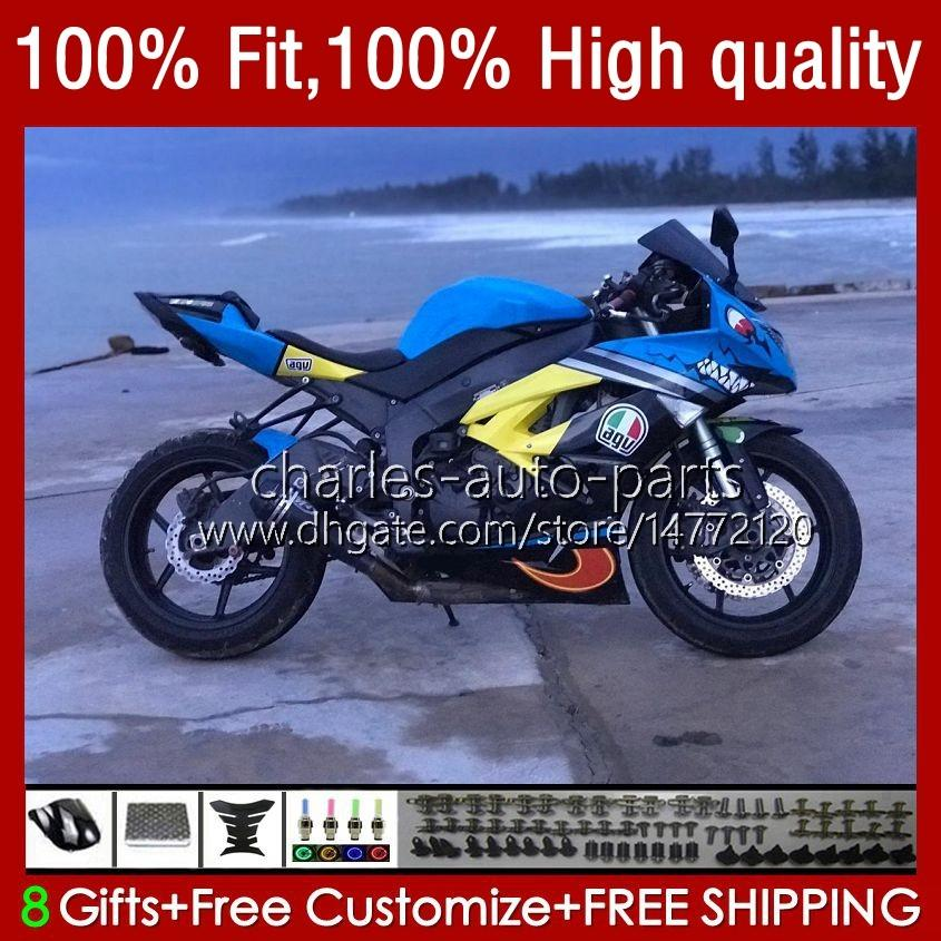 Kawasaki Ninja Zx 6R 600 CC 6 R 636 ZX6R 09 10 11 12 13NO.84 ZX600 ZX636 ZX-636 600CC 2009 2010 2011 2012 ZX-6R ZX600C 2009-2012 OEM 페어링 상어 블루