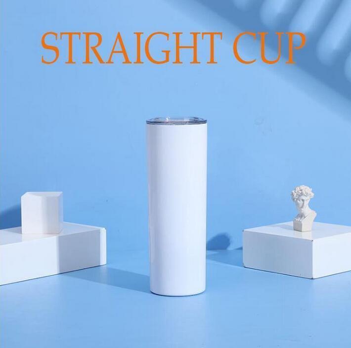 20 uncja 30 uncji puste sublimacji kubki proste Puchar z pokrywką ze stali nierdzewnej podwójną ścianę bębnową kubek izolowany kubek kubek Party