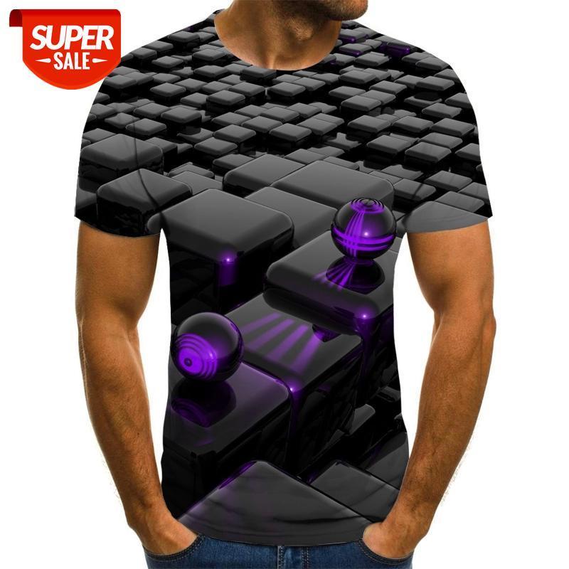 Nuevo estilo de verano para hombre camiseta colorido galaxia espacio psicodélico floral impresión 3d mujeres / hombres camiseta Hip Hop Casual Tees Tops # CP0W