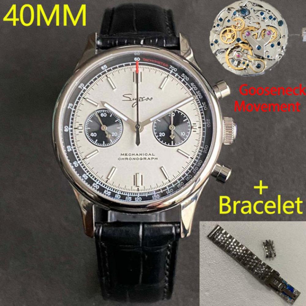Мужские часы Sapphire Mechanical военные часы для мужчин пилот мужской хронограф Seagull ST1901 Движение спортивный мужчина смотреть роскошь C0227