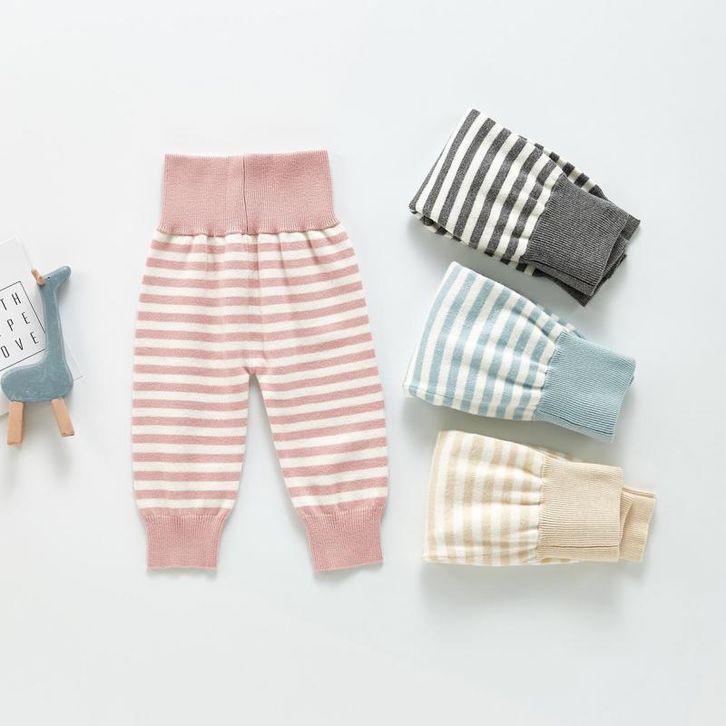 Calças 2021 Outono Bebê Menina Malha Leggings Nascido Quente Cintura Alta Calças Criança Longa Longos Crianças Meninas Algodão