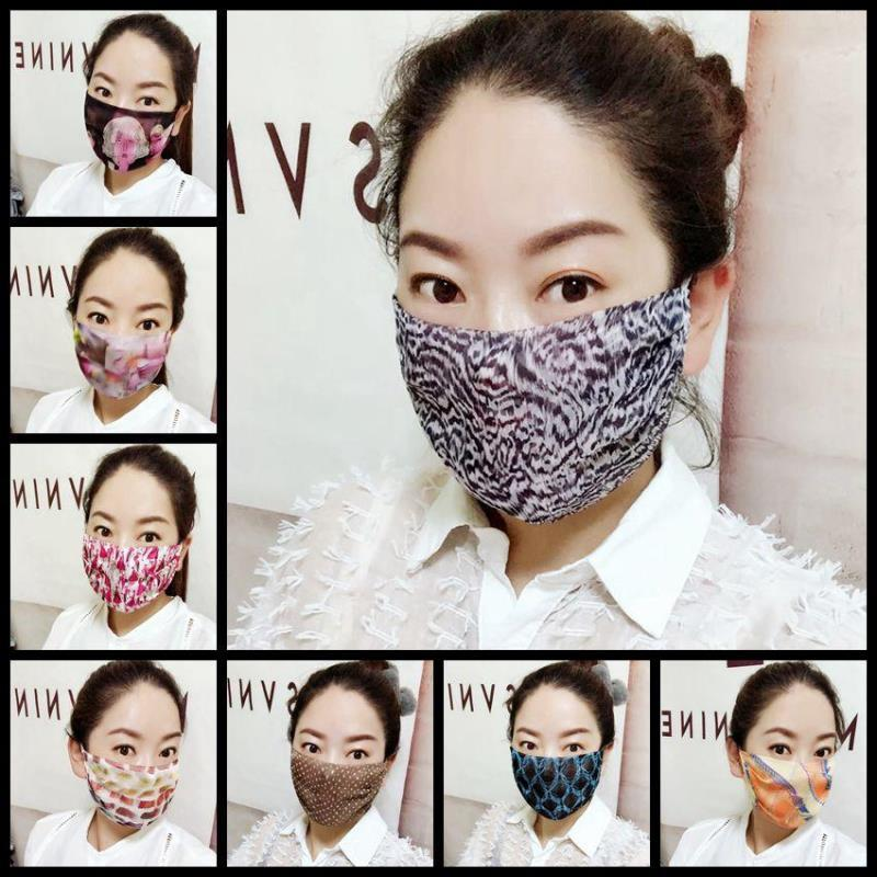 Печать маски солнца лето ледяной шелковый леопардовый точка женская маска защита от солнца солнцезащитный солнцем дышащая крышка для лица NWA1921 KNRQD