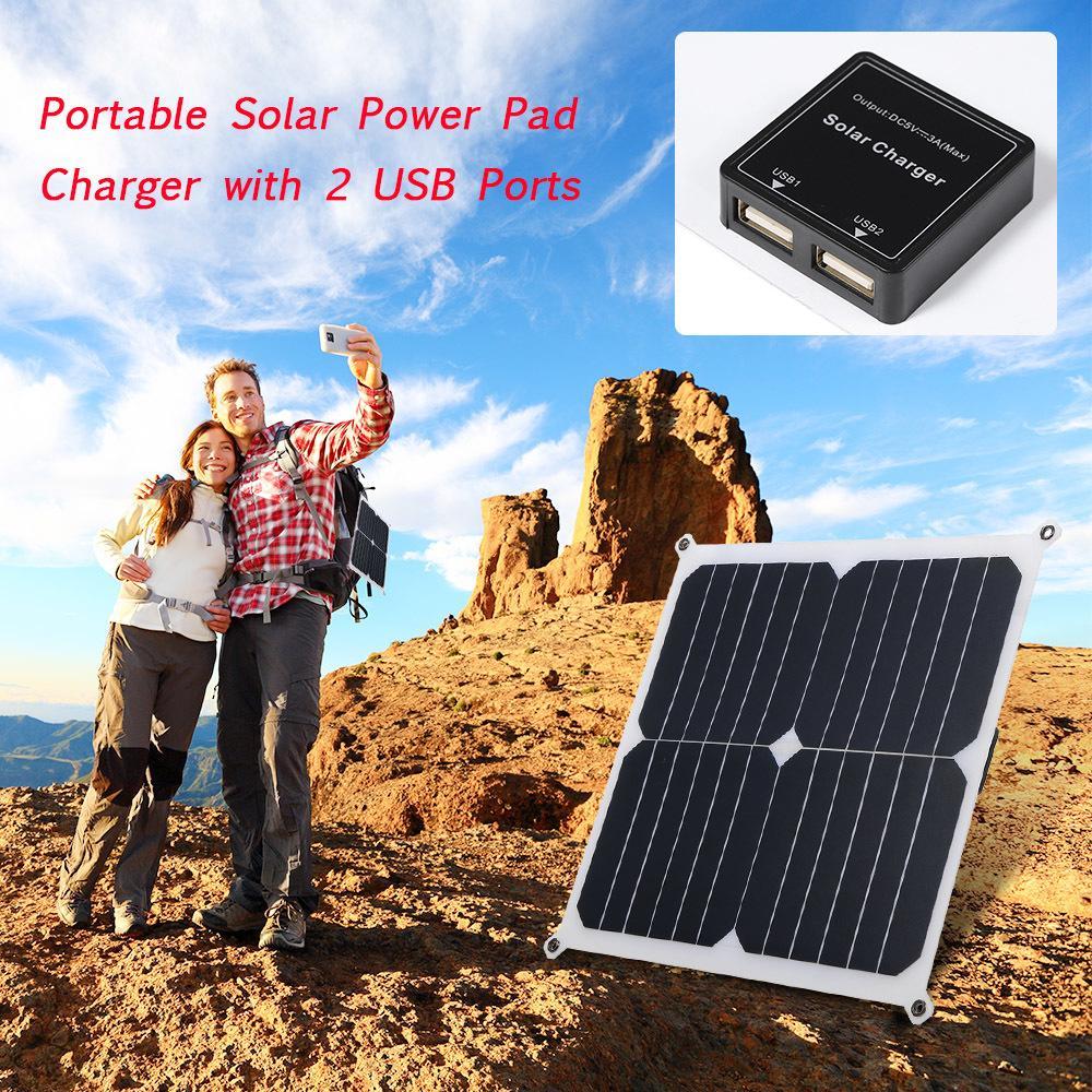 2021 Neue Tragbare 14 W Energie Panel Gehäuse 6V Mini Solarsystem DIY Für Batterie Handy Ladegeräte ELZ6