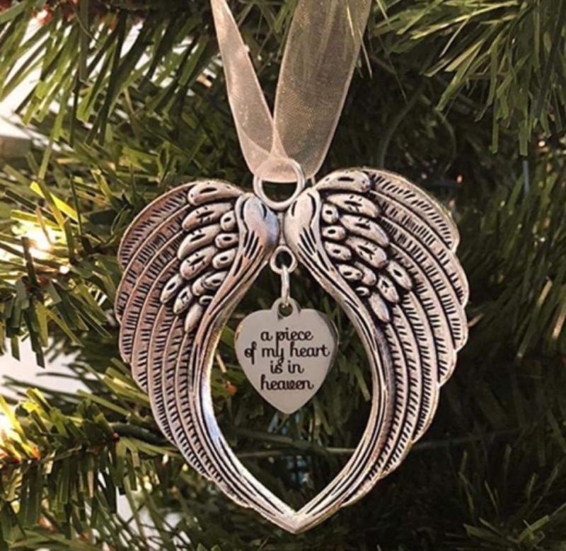 Sublimationsrohling Weihnachtsverzierung Verzierung Dekorationen Angel Wings Shape Blank Fügen Sie Ihr eigenes Bild und Ihren Hintergrund hinzu YJL44 120 S2