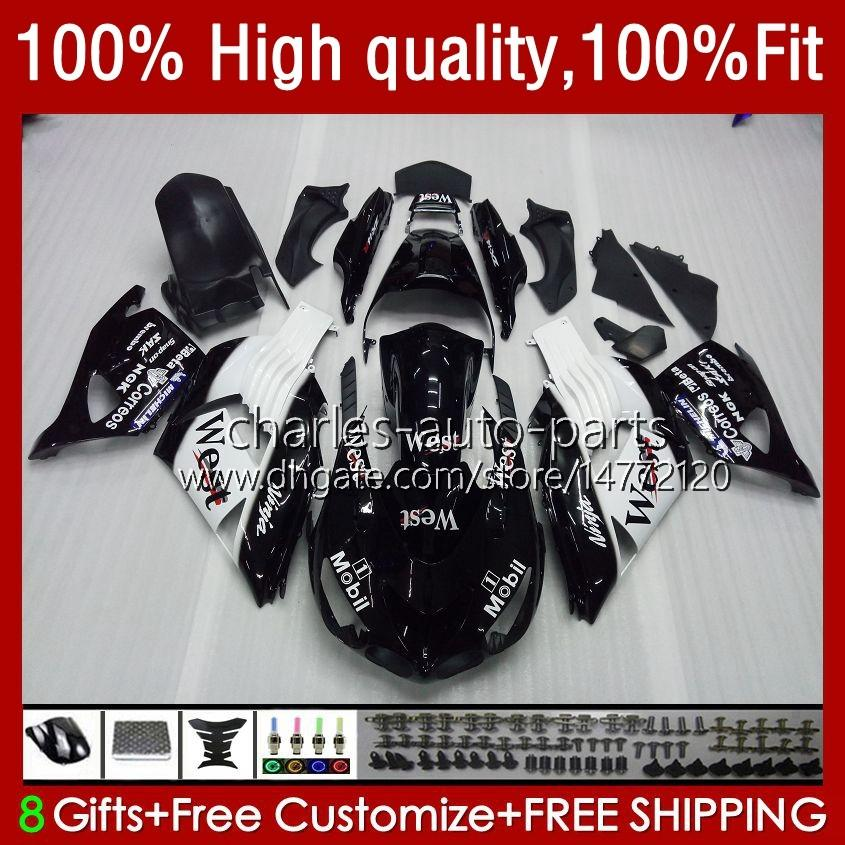 Corpo per Kawasaki Red Black ZX 14R ZX14R 06 07 08 09 10 11 HM18 ZZR 1400 ZZR1400 14 R ZX-14R 2006 2007 2009 2009 2010 2011 carenatura