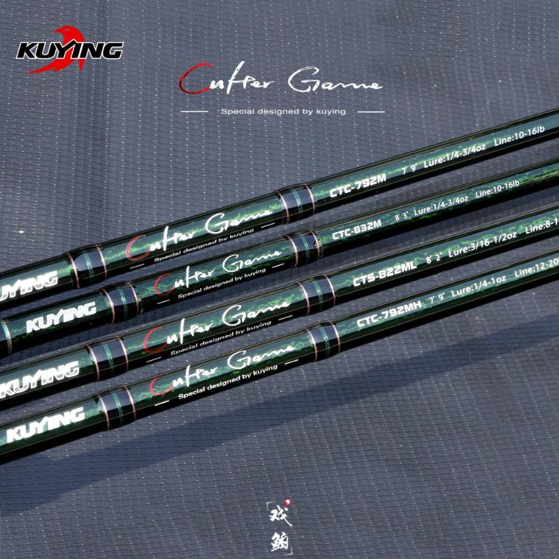 Boot Angelruten Kuying Culter Game 2.28m 2,37m 2,46m 2,49m Spinning Casting Lure Rod Fisch Stock Stick Pole Carbon Medium Licht hart