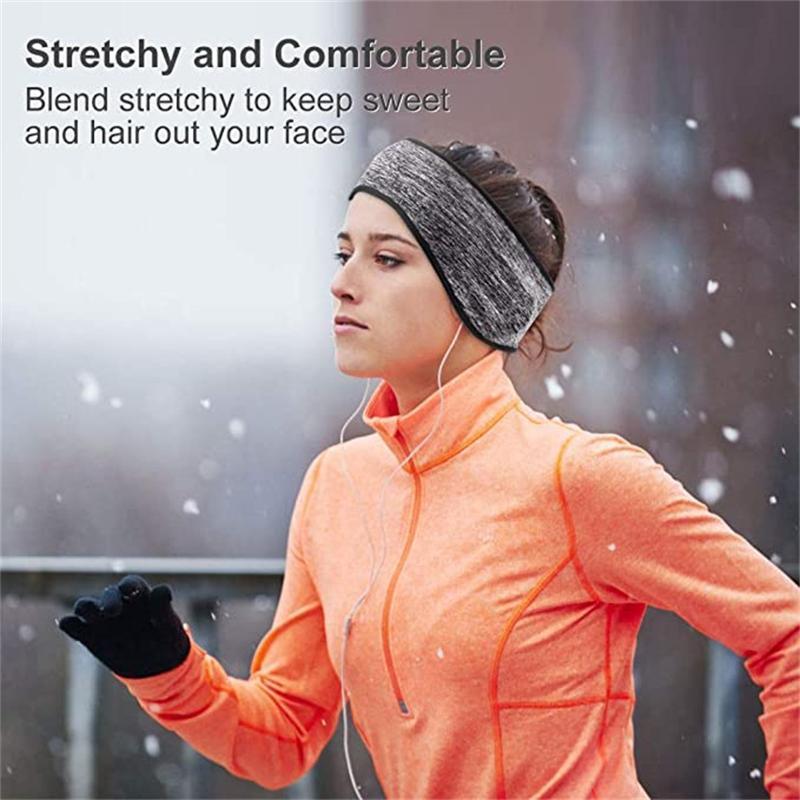 2 шт. Новые спортивные растягивающие велосипедные велосипедные повязки ушные муфты ветрозащитные теплые флисовые полосы волос на открытом воздухе лыжный лыжный ухо
