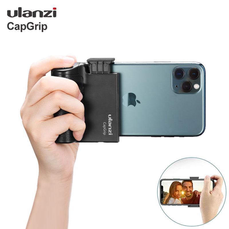 Ulanzi Capgrip Kablosuz Bluetooth Smartphone Selfie Kolu Kavrama Telefon Sabitleyici Standı Tutucu Deklanşör 1/4 Vida
