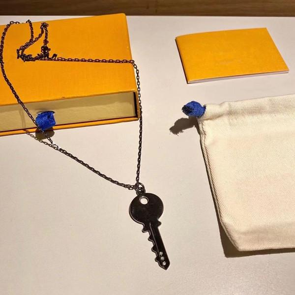 Top Qualité Luxe Black Key Collier Zircon Collier Hommes et Femmes Mode Collier Festival Cadevent Bijoux