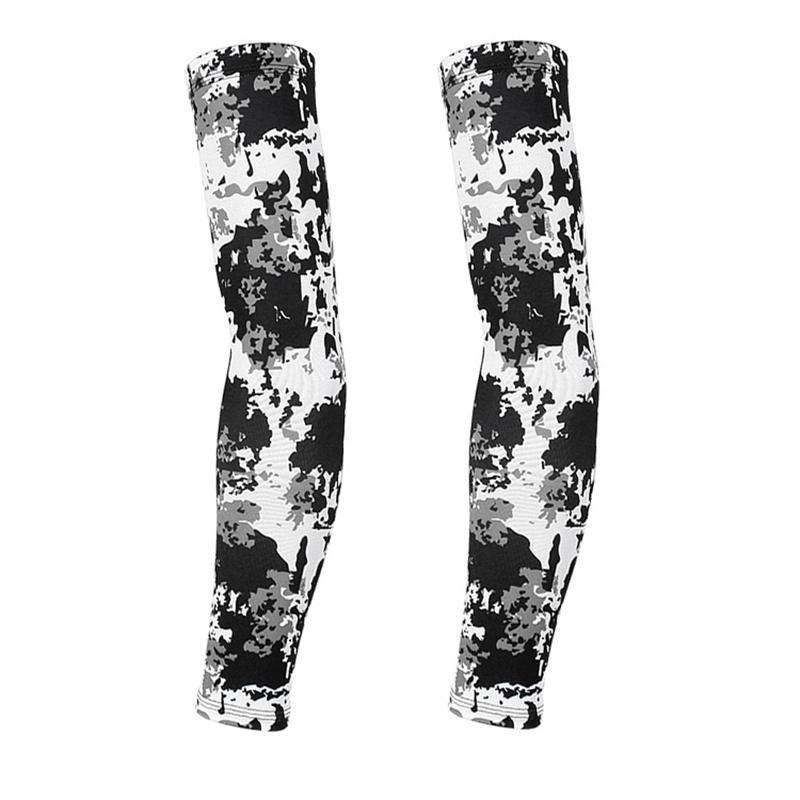 Elbow & Knee Pads Camouflage Arm Sleeves Protective Sun UV Cover Cooling Cycling For Men Women