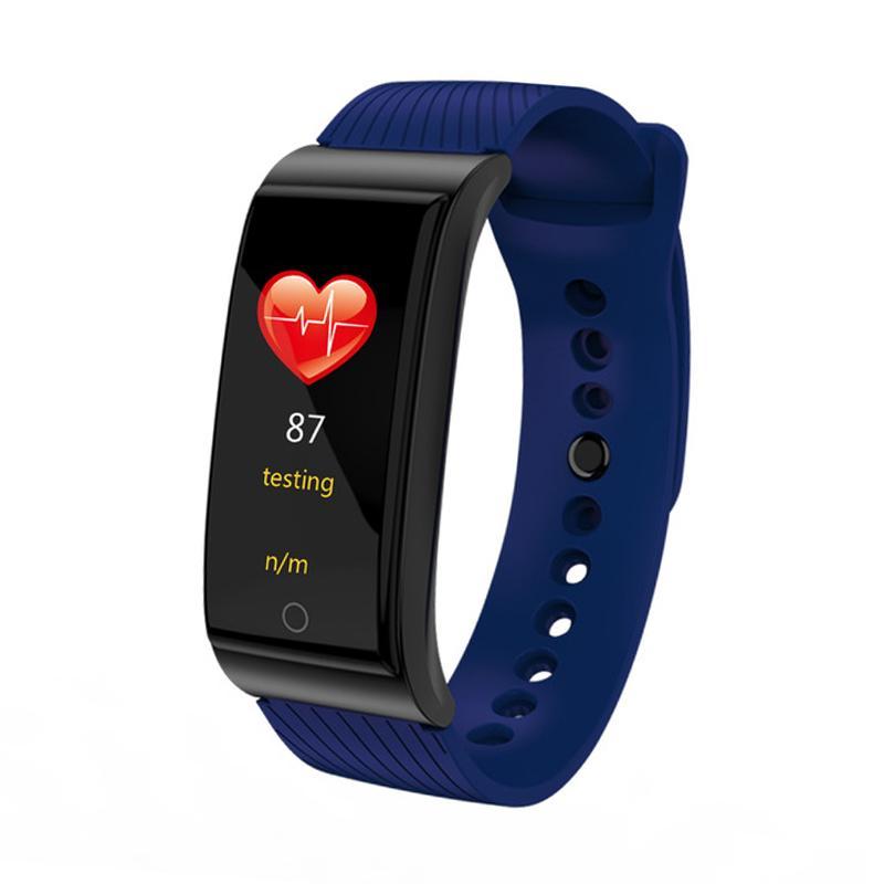 F4 Smart Armband Blutdruck Herzfrequenz Monitor Smart Watch Wasserdichte Bluetooth-Schrittzähler Sport Armbanduhr für iPhone Android Uhr