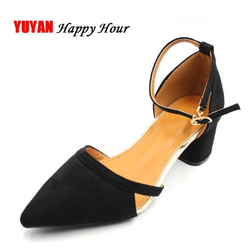 Kleid Schuhe Mode Frauen High Heels Spitze Elegante Frauenpumpen Sexy Damen Dicke ZH2832
