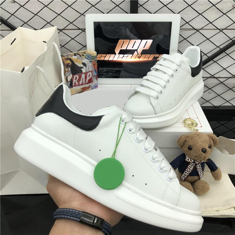 أعلى جودة الرجال النساء جلد طبيعي منصة الأحذية النسائية الأزياء في المخمل فالت رجل فاخر مصمم عارضة المدربين أحذية رياضية مع صندوق
