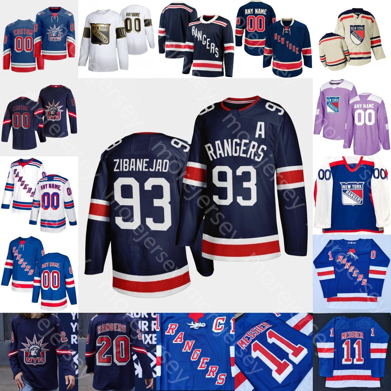 New York Rangers Buz Hokeyi Jersey Gauthier Georgiev Brett Howden Jack Johnson Lemieux Ryan Lindgren K'Andre Miller Rooney Igor Shestyorkin