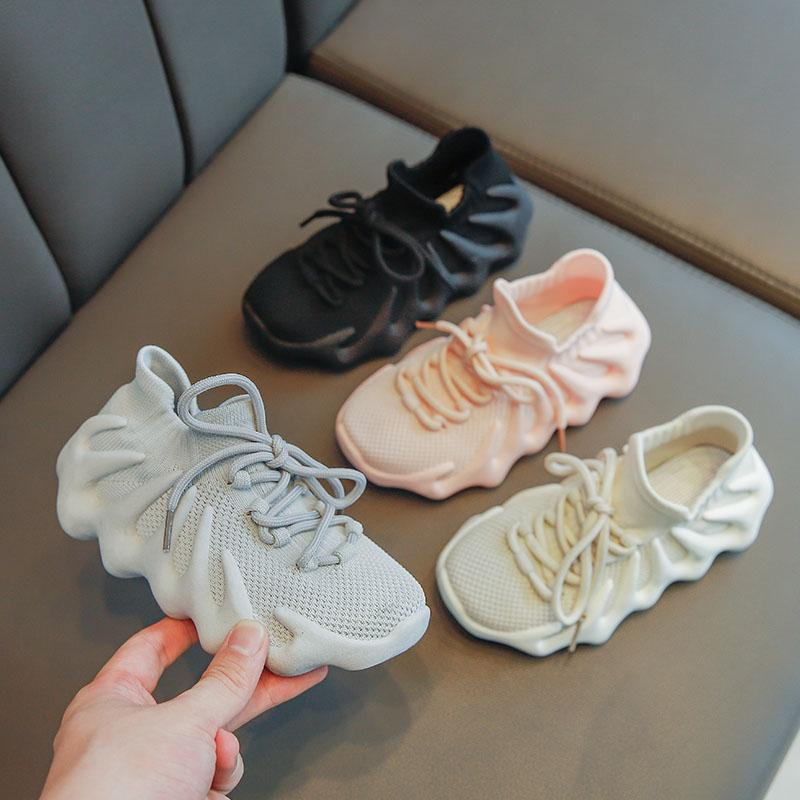 Осень девочка сетка мушки тканые спортивные туфли осьминоги мальчики повседневные туфли дети дышащие кроссовки
