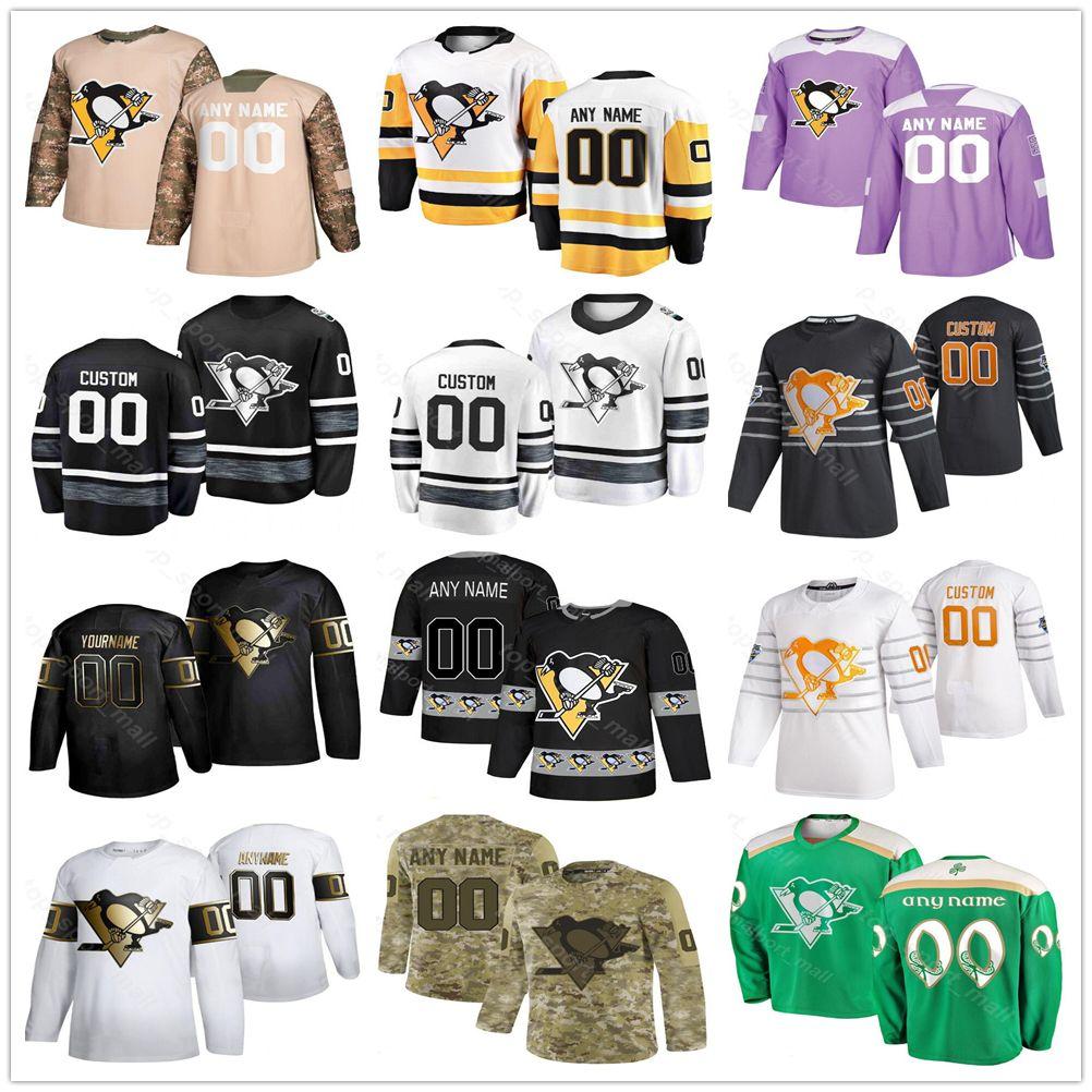 Pittsburgh Penguins Jersey Men Women Kid Sidney Crosby Kris Letang Bryan Rust Sam Lafferty Dominik Kahun Matt Cullen Hockey Custom Jerseys