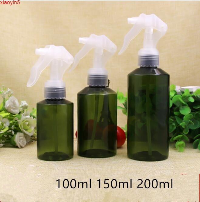 Высокая квасильность Бесплатная доставка 100 мл 150 мл 200мл пустой зеленый пластиковый распылитель упаковки для упаковки бутылки.