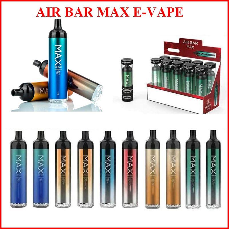 Airbar 최대 일회용 vape 펜 전자 담배 에어 바 빈 vapes 6.5ml 사전 채워진 포드 1250mAh 2000Puffs Dab Pens Starter Kit