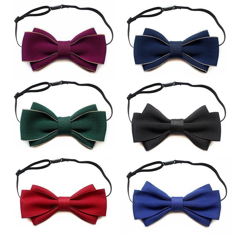 Fliege Mode Ribbon Krawatte Solide Luxus Hochzeit Einstellbare Bowties Formale Party Handgemachte Krawatte für Frauen Unisex Bowtie Schmetterling