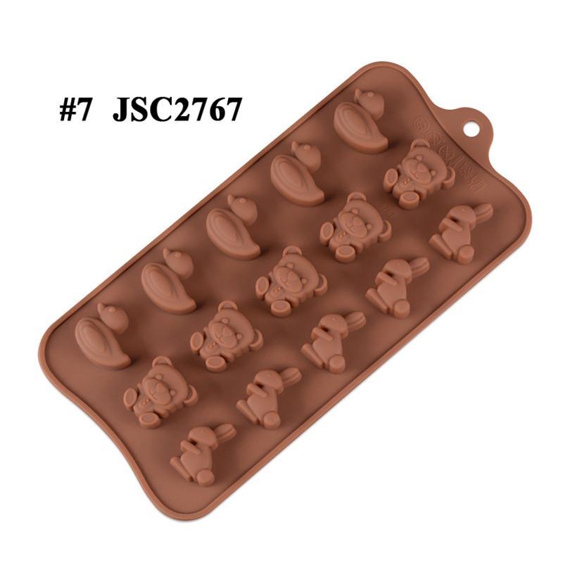 Çikolata Kalıpları Silikon Sıcak Kakao Bombaları Kalp Kalıpları Çikolata Şeker Kalıpları Için Silikon Şekiller Festivali Düğün Partileri için Pişirme JSC276508