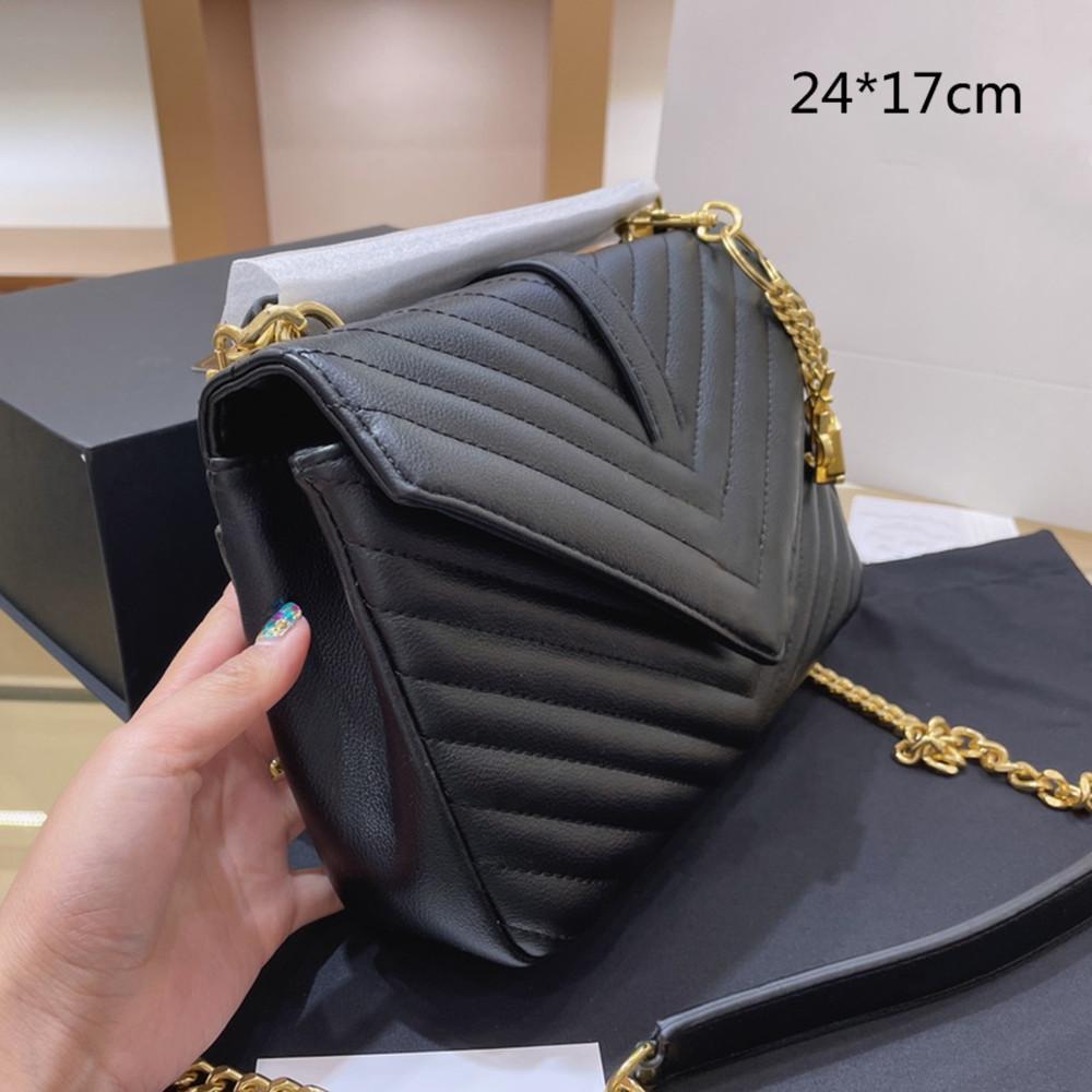 2021 المرأة الأسود سلسلة أكياس مصمم حقيبة crossbody الكتف حقيبة الأزياء المغلف رسول الفاخرة متعرج زاك المحافظ إلكتروني الذهب الترتر جودة عالية