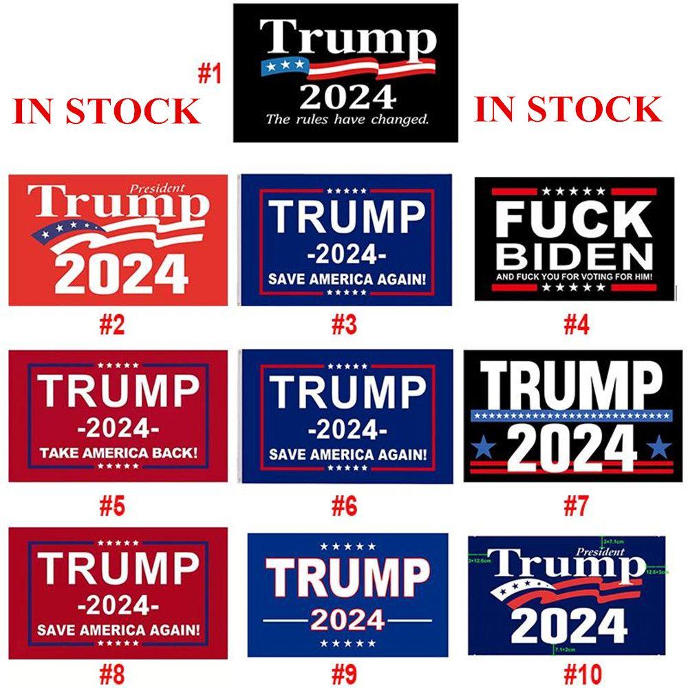 Dhl سفينة ترامب الانتخابات 2024 ترامب الاحتفاظ العلم 90 * 150 سنتيمتر أمريكا شنقا لافتات كبيرة 3x5ft الطباعة الرقمية دونالد ترامب العلم بايدن سريع الشحن